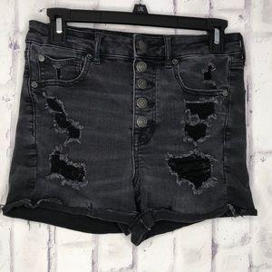American Eagle Super Hi-Rise Shortie Shorts Sz 6